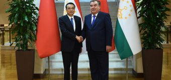 Meeting the president of the Republic of Tajikistan Emomali Rahmonwith whith Premier of the State Council of the People's Republic of China Li Keqiang